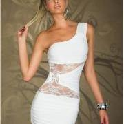 Sexy, Symettrical Shoulder Dress; S/M/L/XL