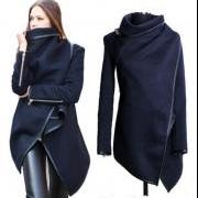 Women's Woolen Coat; Jacket, Trench Coats, Overcoat, Outerwear (avail in 2 colors) sizes S - 3XL