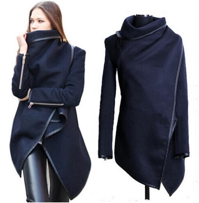 Women's Soft Woolen Cape; Jacket, Trench Coat, Overcoat, Spring Coat, Outerwear (avail in 2 colors) sizes S - 2XL